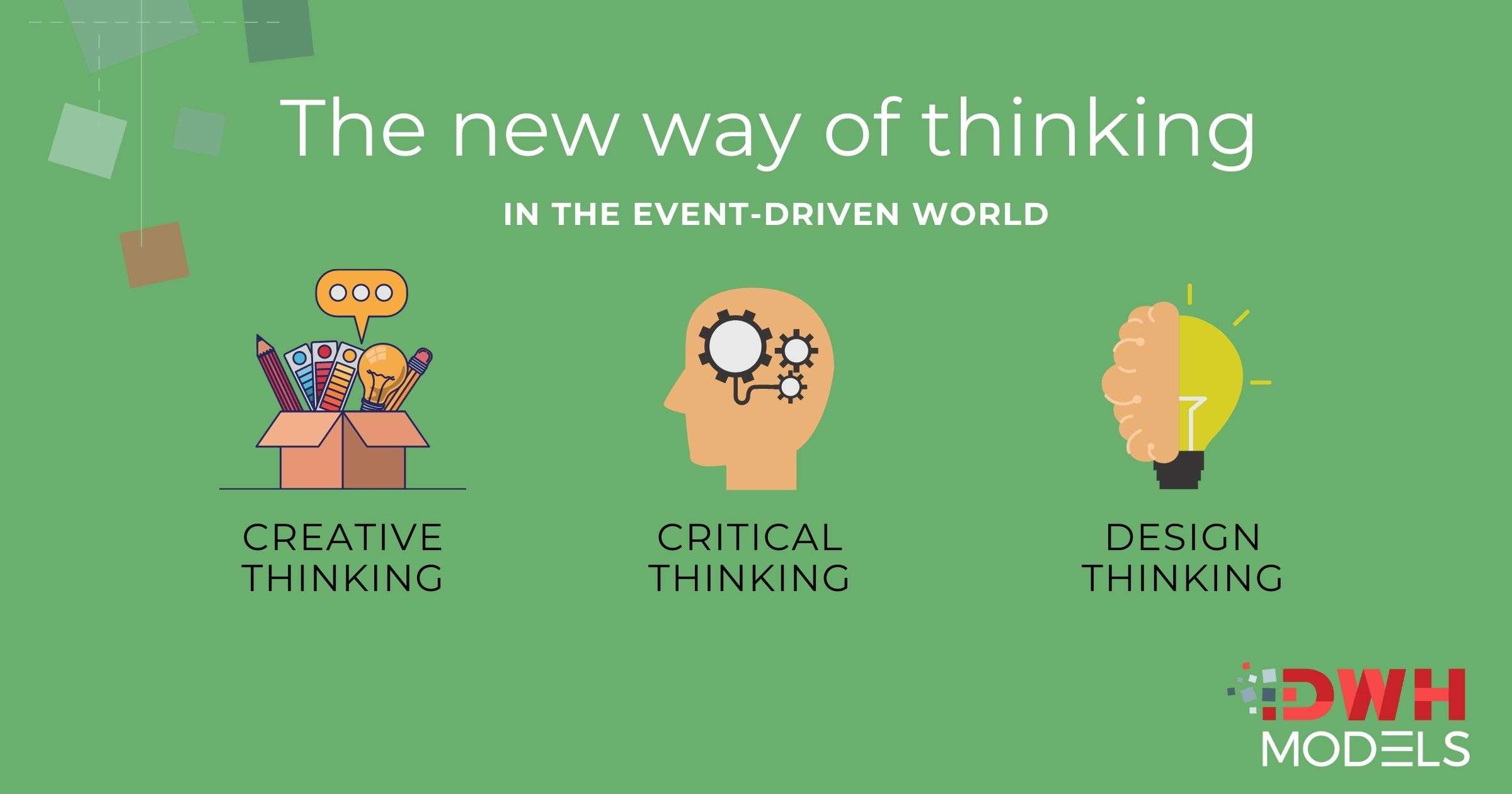 critical, creative and design thinking in data driven economy